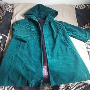 Jackets & Blazers - Vintage hooded velvet coat